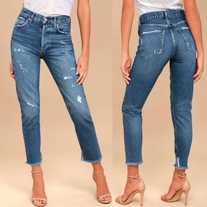 AGOLDE HIGH RISE JAMIE FEEL GOOD JEANS SIZE 26